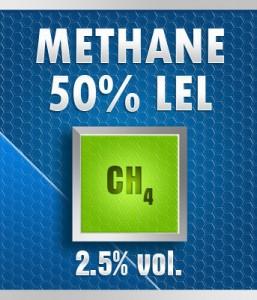 Gasco 135A-2.5: Methane (CH4) 2.5% vol. (50% LEL) Calibration Gas