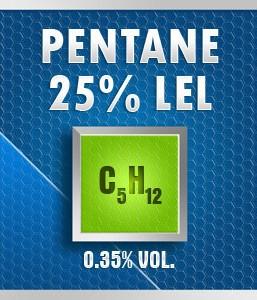Gasco Bump Test 154-25: Pentane (C5H12)  0.35% vol. (25% LEL) Calibration Gas