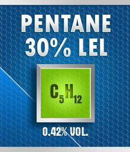 Gasco Bump Test 164-30: Pentane (C5H12) 0.42% vol. (30% LEL) Calibration Gas
