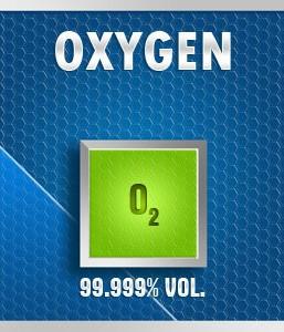 Gasco 158: Oxygen (O2) 99.999% vol. Calibration Gas