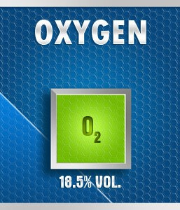 Gasco Bump Test 161-18.5: Oxygen (O2) 18.5% vol. Calibration Gas