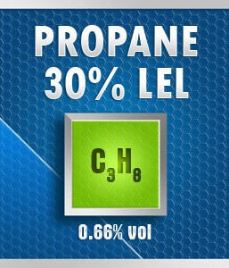 Gasco 176-0.66: Propane (C3H8)0.66% vol. (30% LEL) Calibration Gas