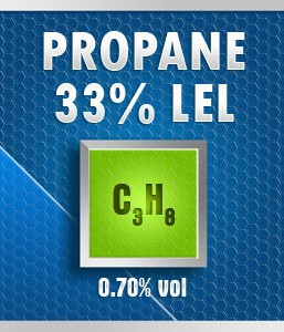Gasco Bump Test 176-0.7: Propane (C3H8) 0.70% vol. (33% LEL) Calibration Gas