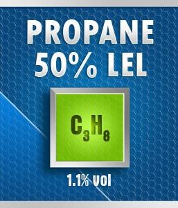Gasco Bump Test 167-1.1: Propane (C3H8) 1.1% vol. (50% LEL) Calibration Gas