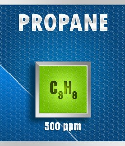 Gasco Bump Test 176P-500: Propane (C3H8) Calibration Gas – 500 PPM