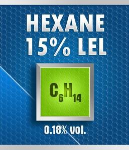 Gasco Bump Test 262-15: Hexane (C6H14) 0.18% vol. (15% LEL) Calibration Gas