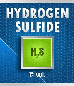 Gasco Bump Test 98-1: Hydrogen Sulfide (H2S) 1% vol. Calibration Gas