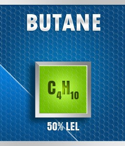 Gasco Bump Test 17A-50: Butane (C4H10) 0.45% vol. (25% LEL) Calibration Gas