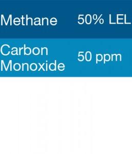 Bump Test Gas: Gasco 301 Multi-Gas Mix: 50 PPM Carbon Monoxide, 50% LEL Methane, Balance Air