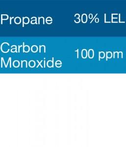 Gasco 305 Multi-Gas Mix: 100 PPM Carbon Monoxide, 30% LEL Pentane, Balance Air