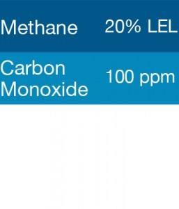 Gasco 308 Multi-Gas Mix: 100 PPM Carbon Monoxide, 20% LEL Methane, Balance Air