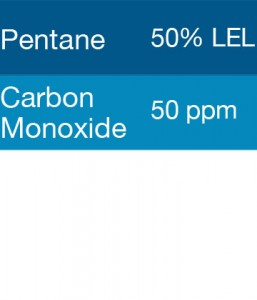 Gasco 322 Multi-Gas Mix: 50 PPM Carbon Monoxide, 50% LEL Pentane, Balance Air