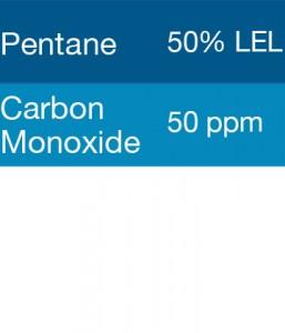 Bump Test Gas: Gasco 322 Multi-Gas Mix: 50 PPM Carbon Monoxide, 50% LEL Pentane, Balance Air