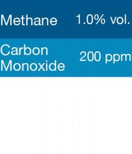 Gasco 337 Multi-Gas Mix: 200 PPM Carbon Monoxide, 1% Volume Methane, Balance Nitrogen