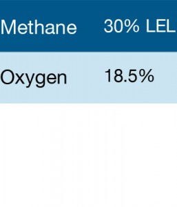 Bump Test Gas: Gasco 385 Multi-Gas Mix: 30% LEL Methane, 18.5% Oxygen, Balance Nitrogen