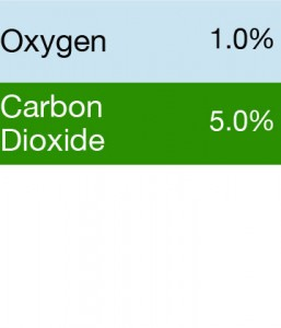 Bump Test Gas: Gasco 391 Multi-Gas Mix: 5.0% Carbon Dioxide, 1.0% Oxygen, Balance Nitrogen